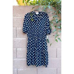 J. TAYLOR ✨NWT✨ Navy Polka Dot Printed Dress